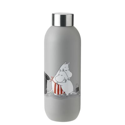 Stelton Keep Cool Trinkflasche Moomin - light grey